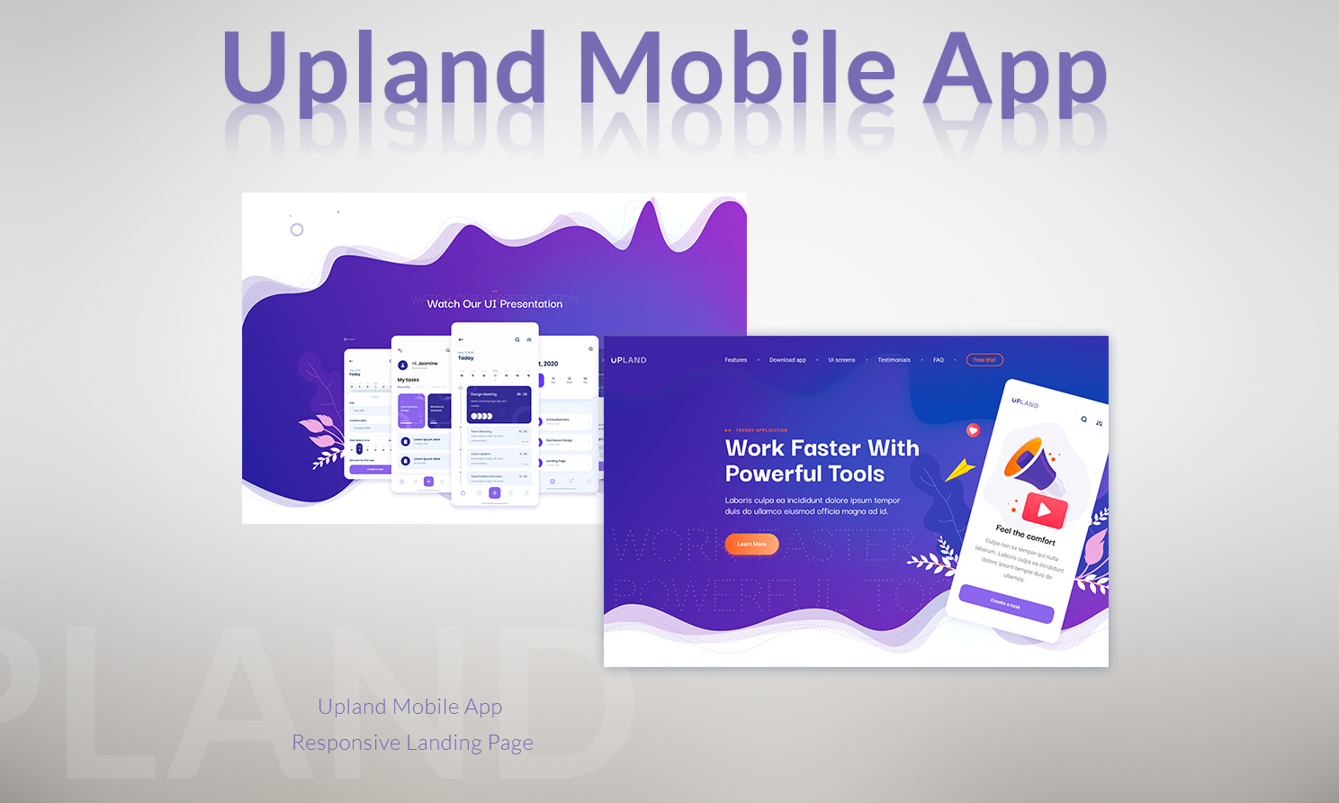 Upland - Mobile App Landing Page