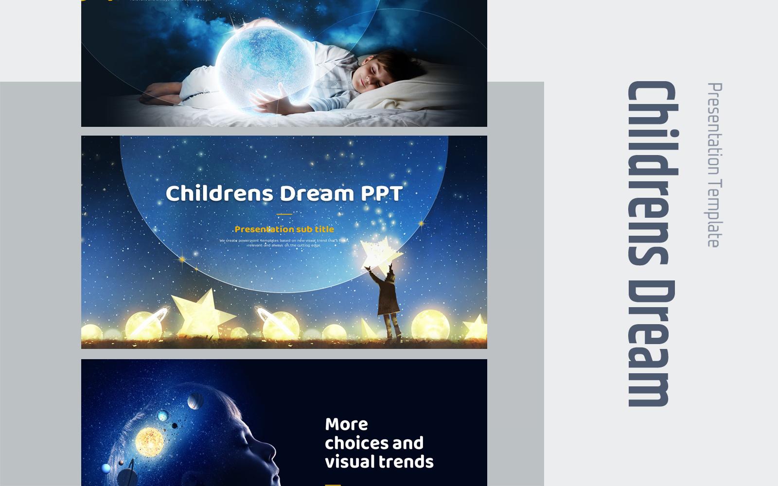 Children's Dream  PowerPoint Template