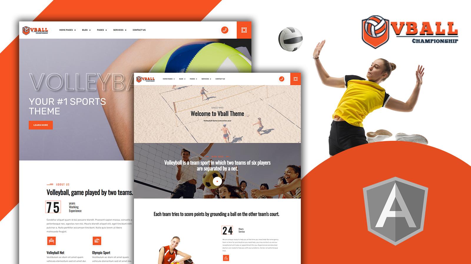 Vball - Easy Volleyball Sport Angular Template