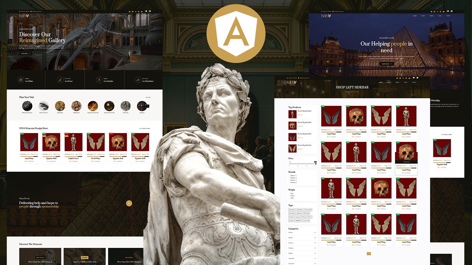 Nina Museum and Artists Gallery Angular Js Website template