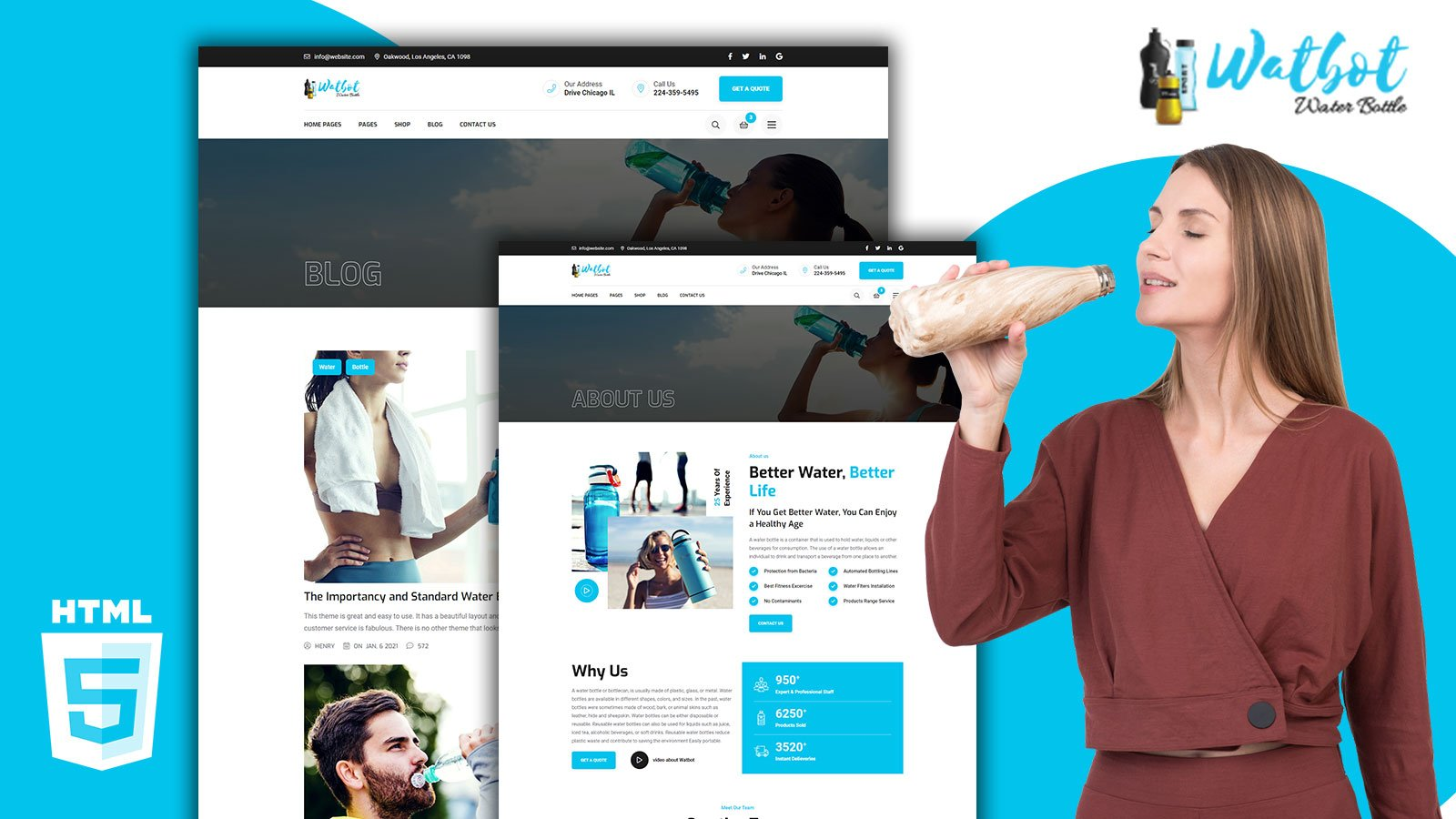 Watbot Product Display Store HTML5 Template
