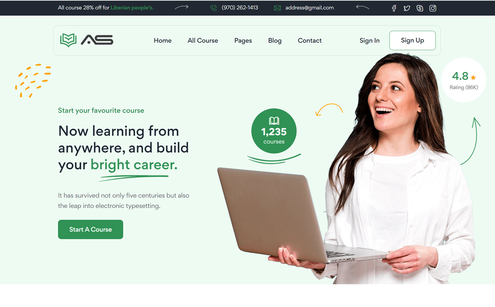 Tariqul - eLearning Website Template