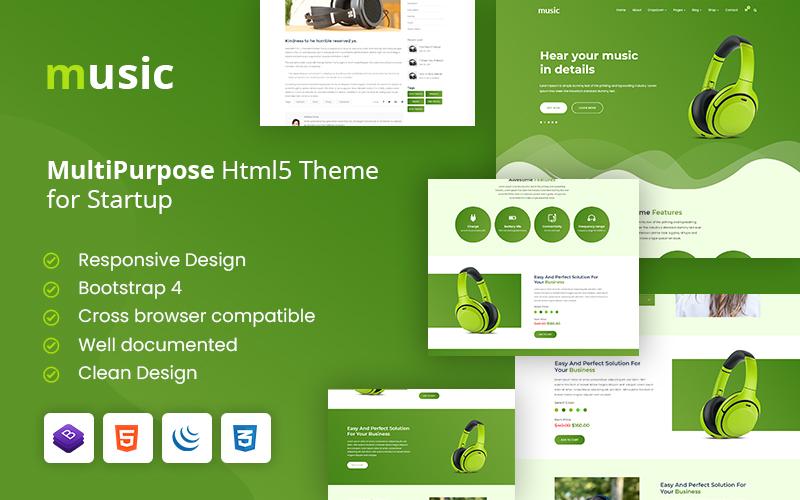 Music - Headphone Business Multipurpose HTML5 Website Template