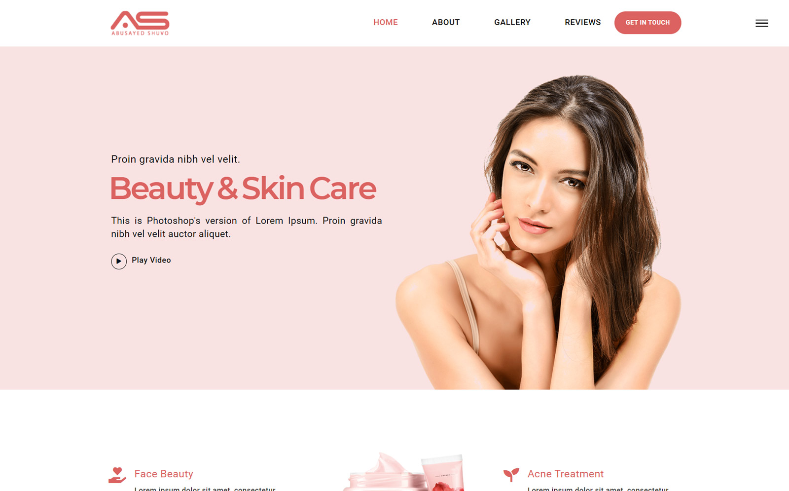 Munna | Skin Care HTML5 Landing Page Template