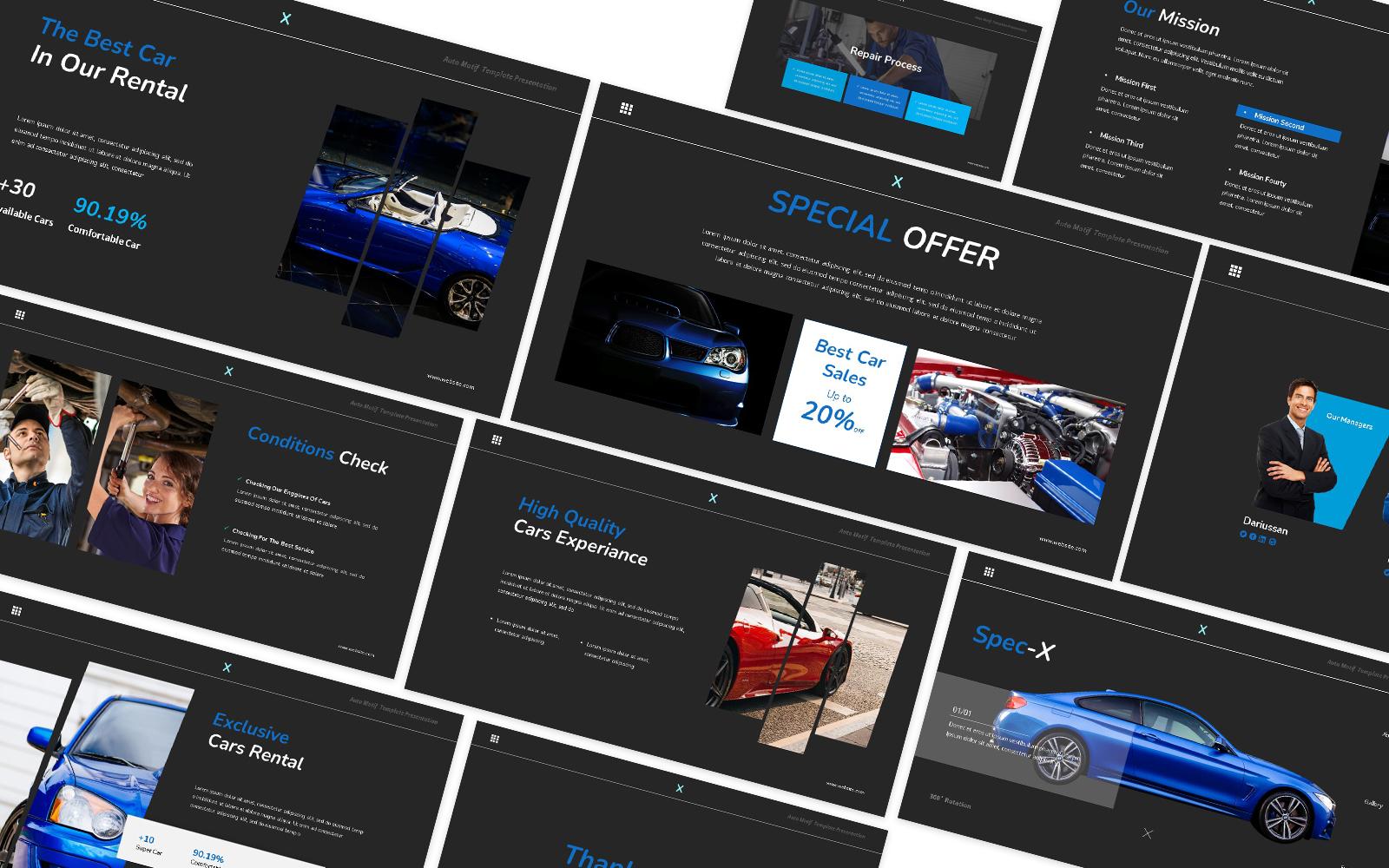 Spec-x Car Auto Powerpoint Template