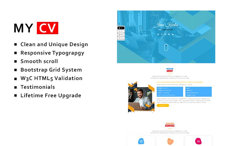 Mycv - Resume Landing Page Template