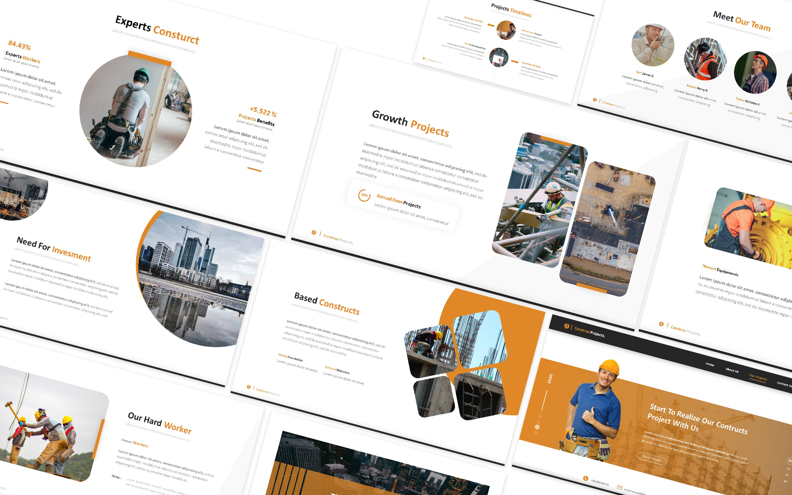 Construe Projects Powerpoint Template