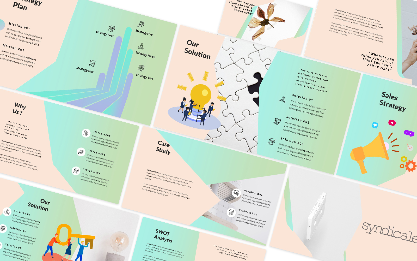 Syndicale Powerpoint Template