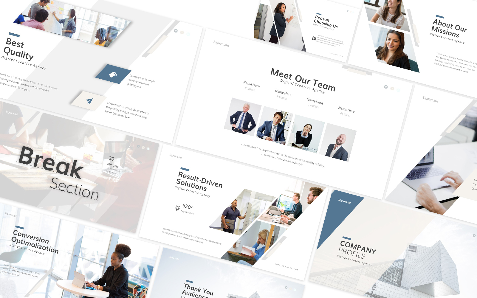 Company Profile 2 Powerpoint Template