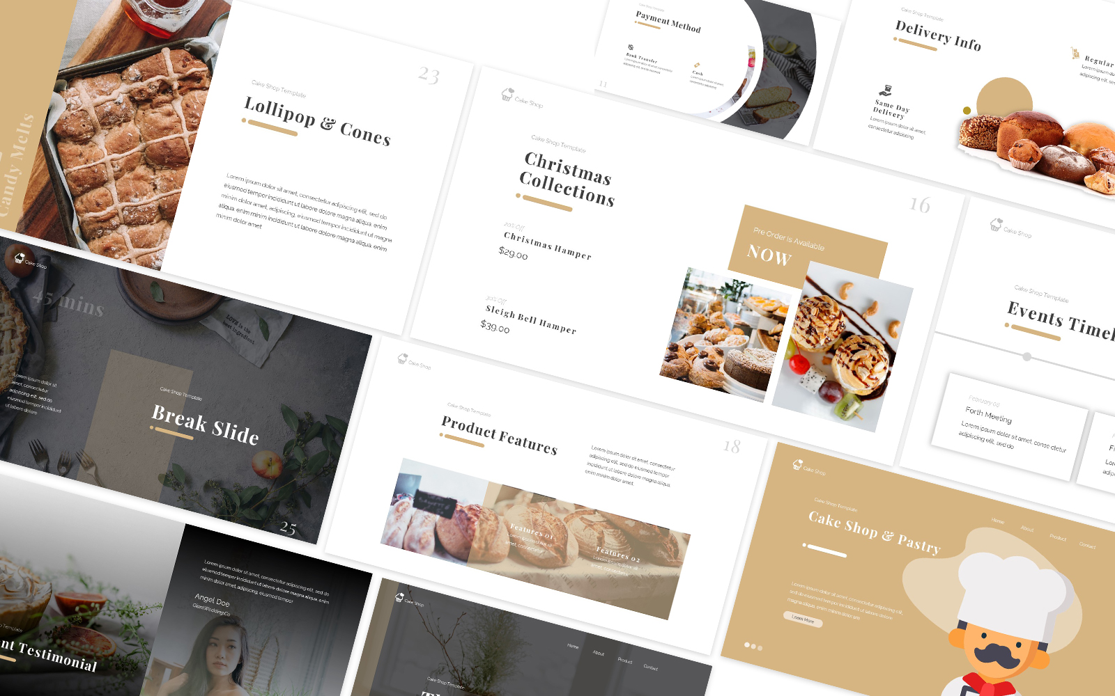 Cake Shop Powerpoint Template