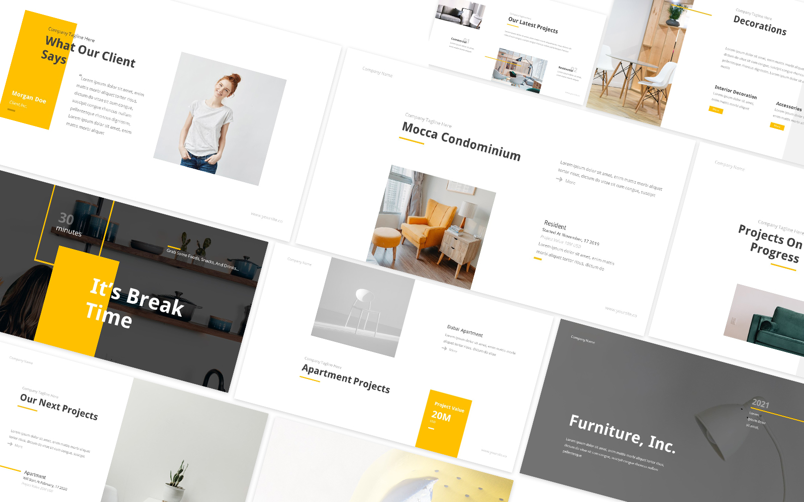 Furniture Inc Powerpoint Template