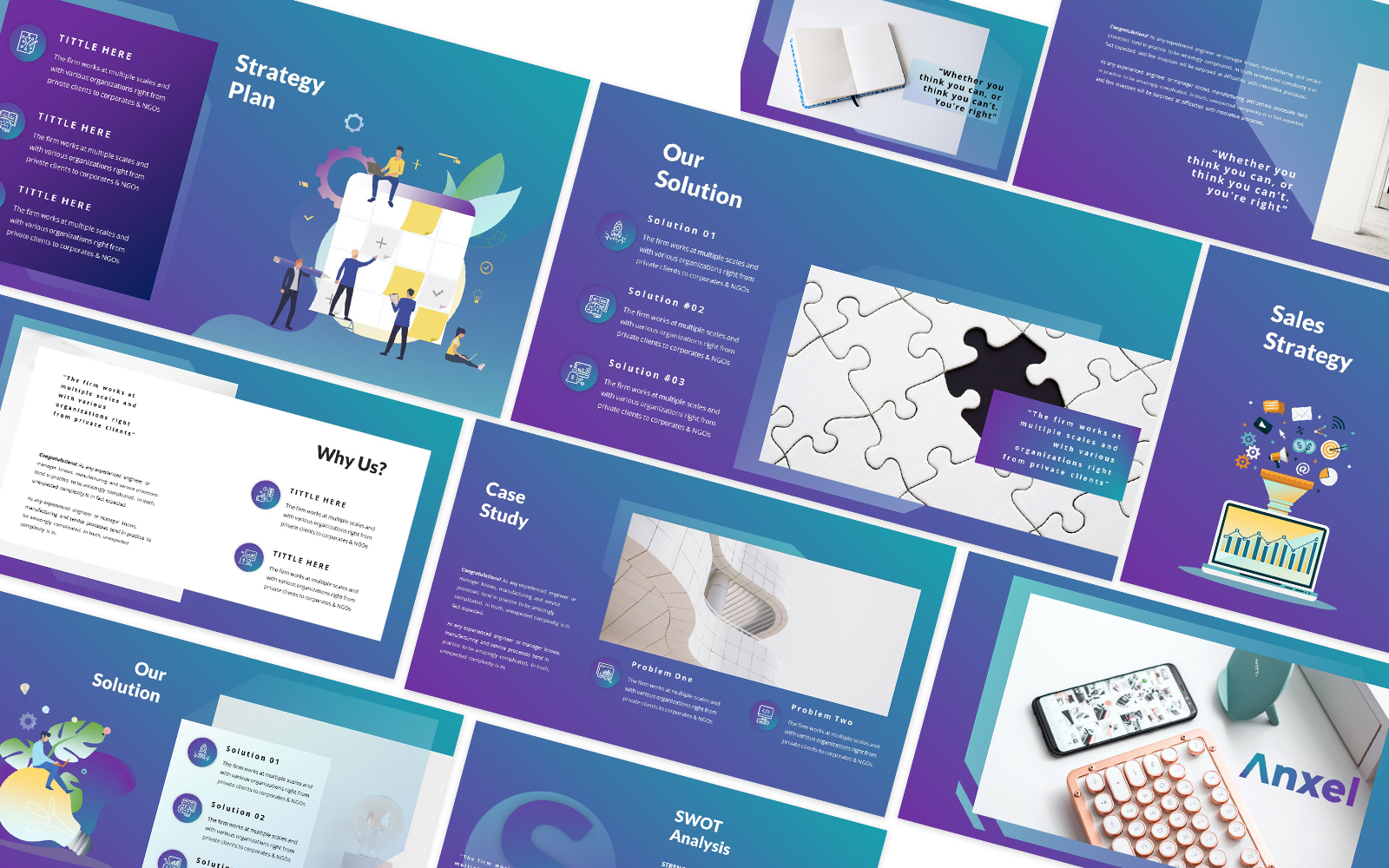 Anxel Powerpoint Template