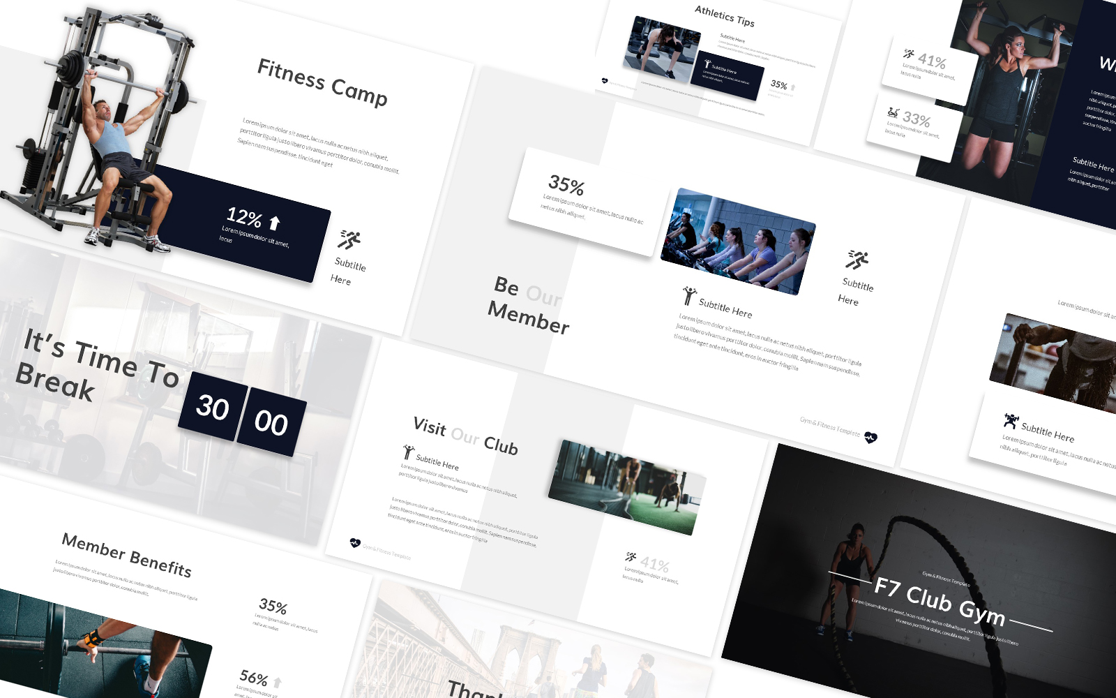 Gym & Fitness Powerpoint Template