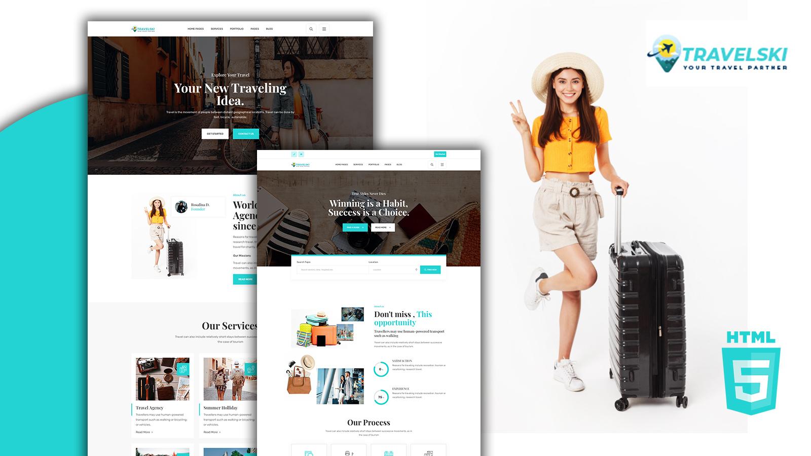Travelski Responsive Travel Agency HTML5 Template