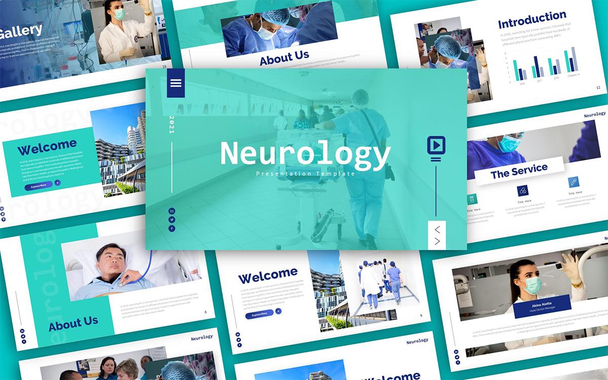 Neurology Medical Presentation PowerPoint Template