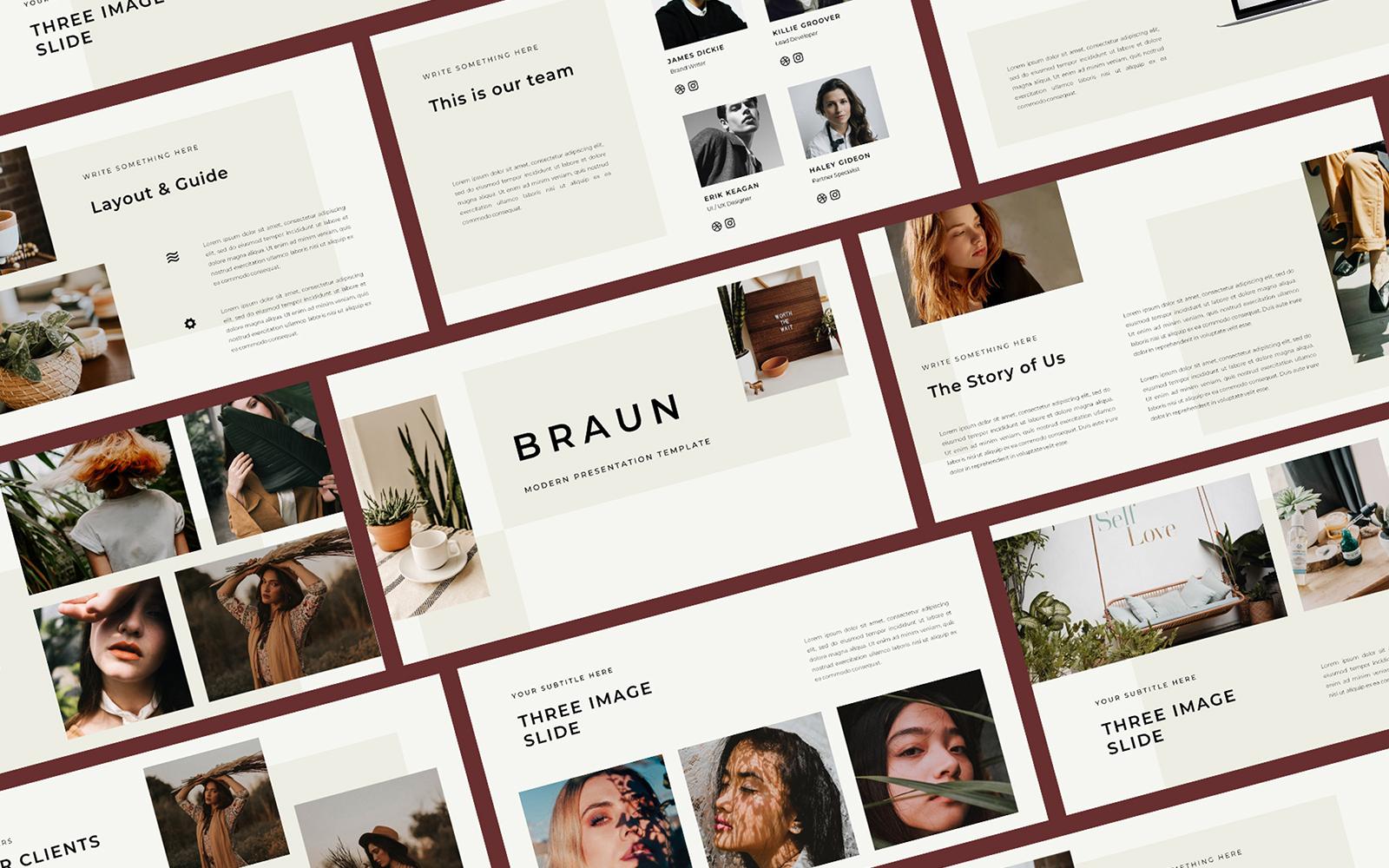 Braun PowerPoint Template