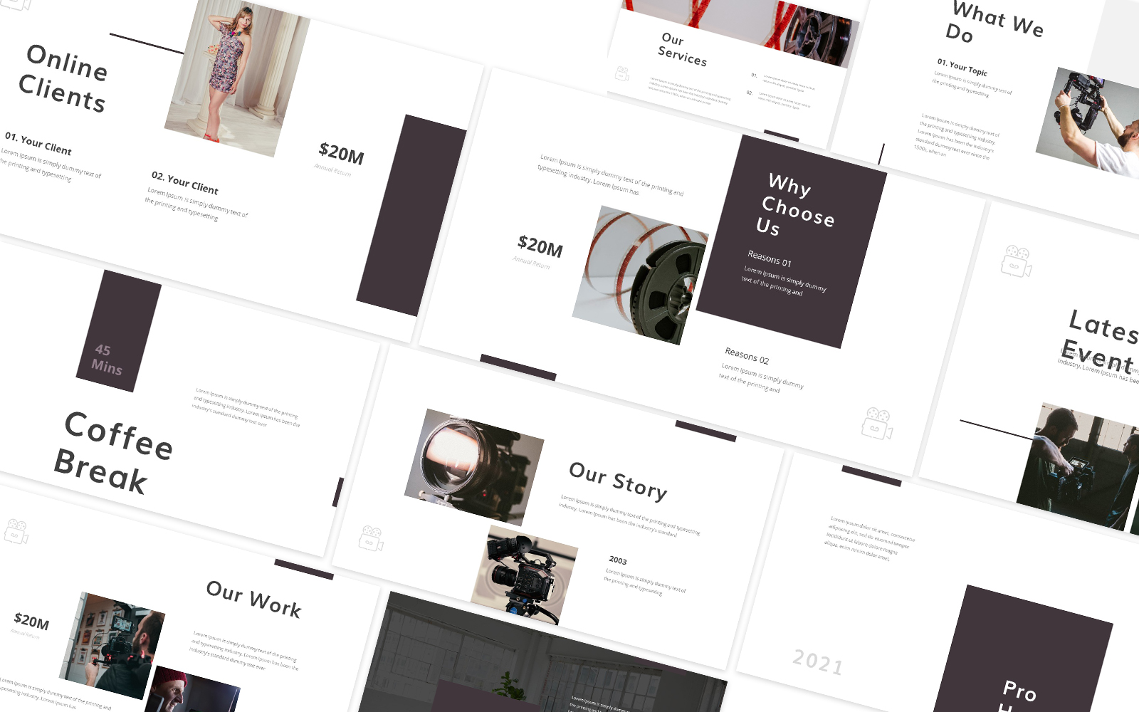 Production House Powerpoint Template