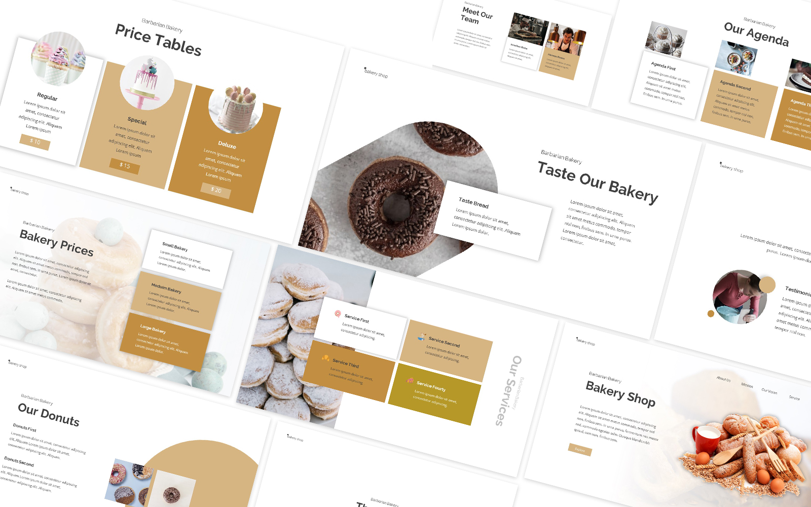 Bakery Cafe Powerpoint Template