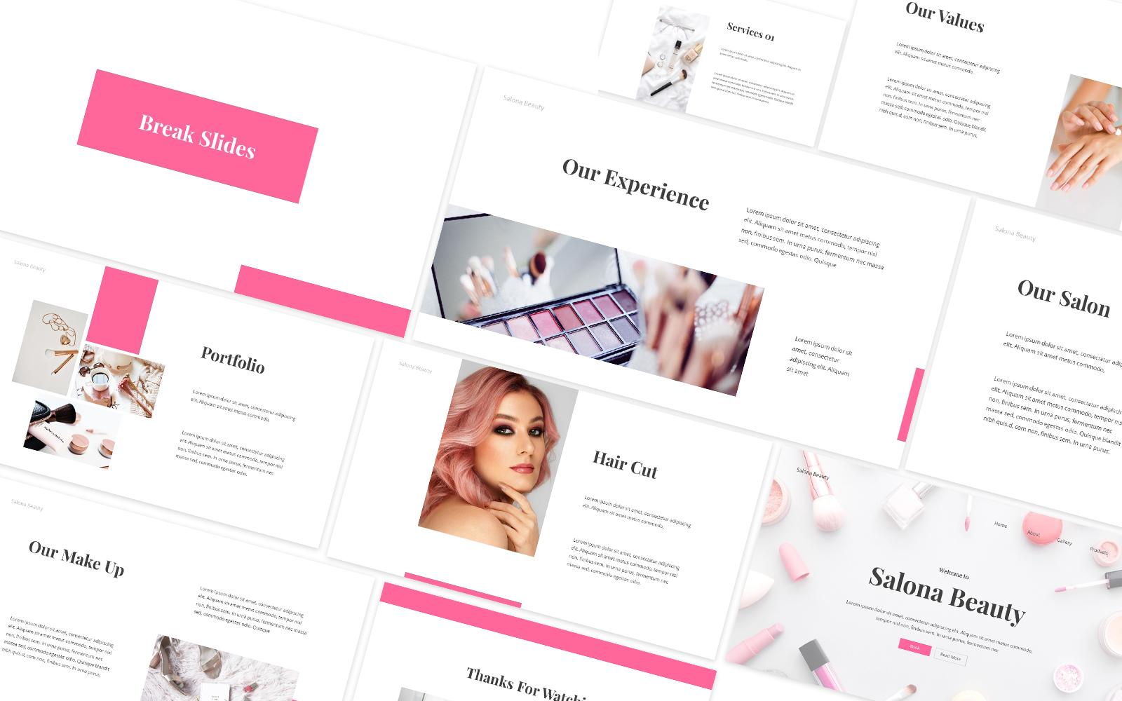 Beauty Salon Powerpoint Template