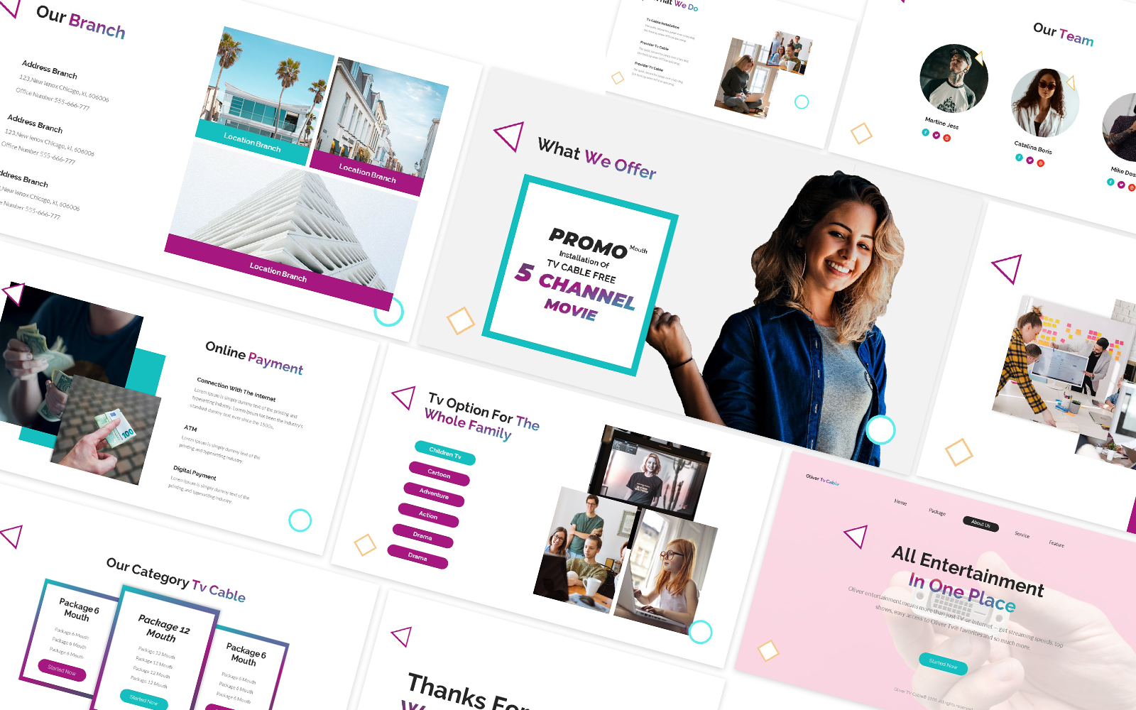 Business Network Powerpoint Template