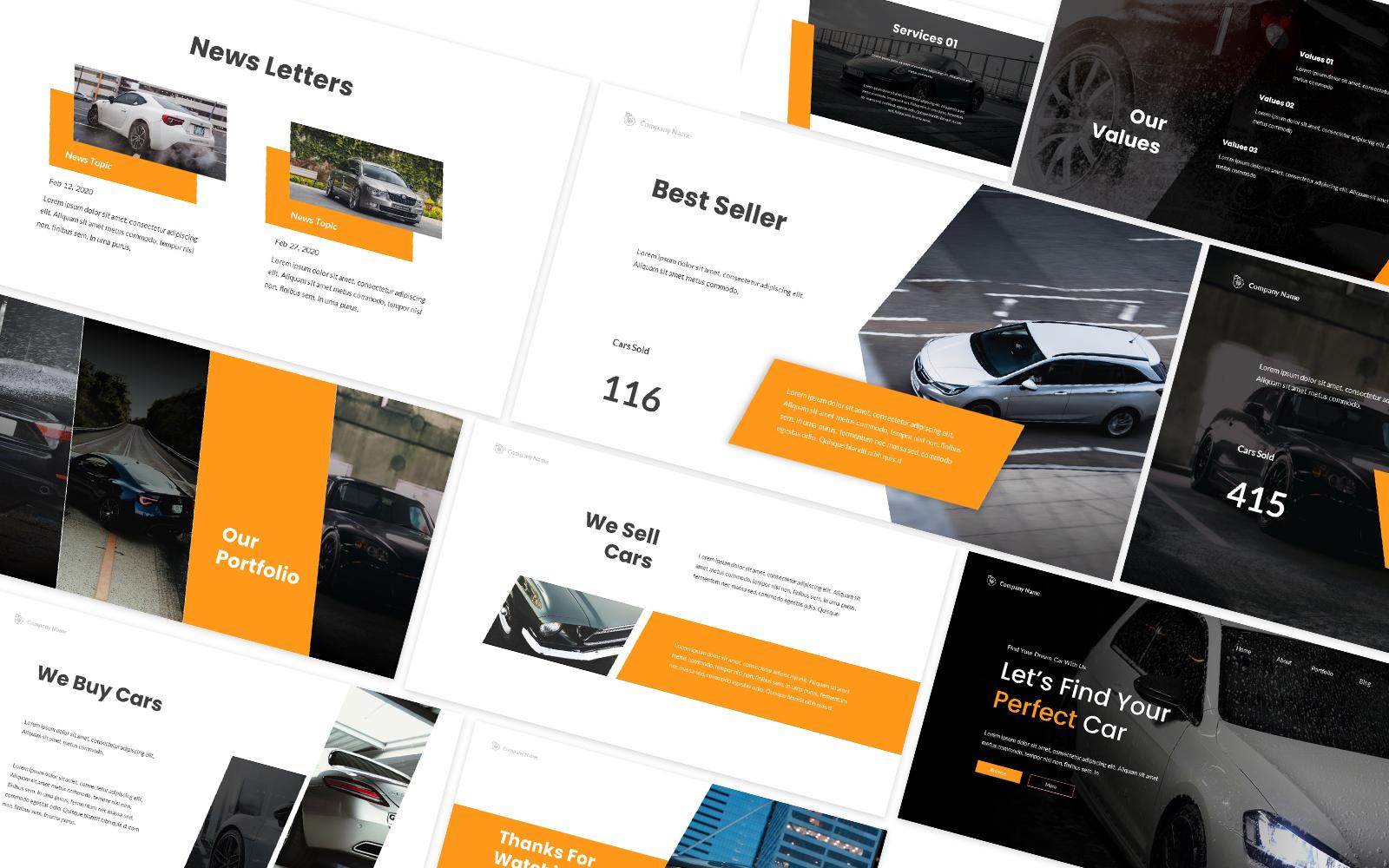 Car Dealership Powerpoint Template