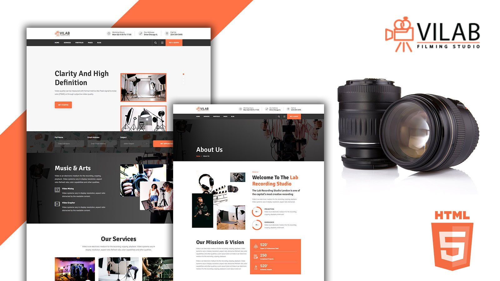 Vilab Production Video HTML5 Template