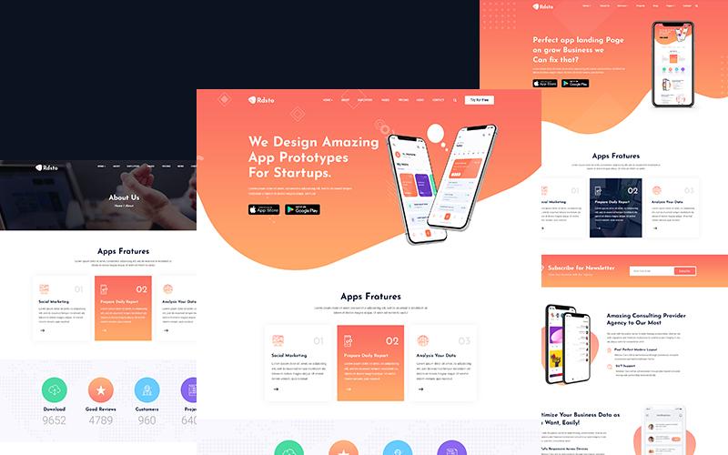 Rdsto - App Landing Website Template
