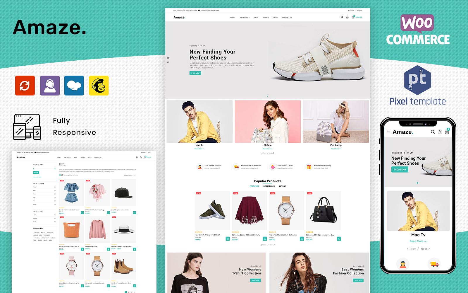 Amaze - Fashion Clothing Multipurpose WooCommerce Template