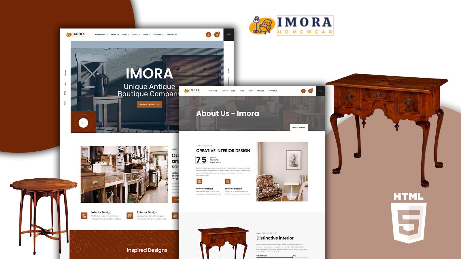 Imora - Antique HTML5 Website template