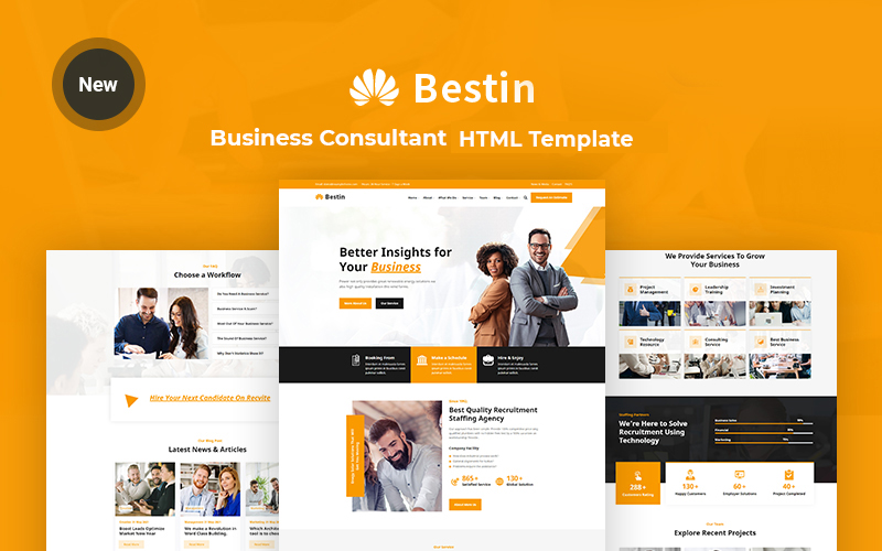 Bestin - Business and  Consultant Responsive Website Template