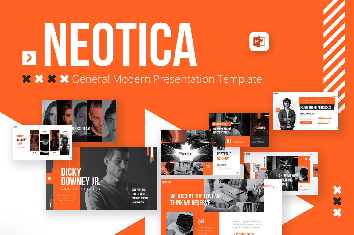 Neotica Multipurpose Modern PowerPoint Template