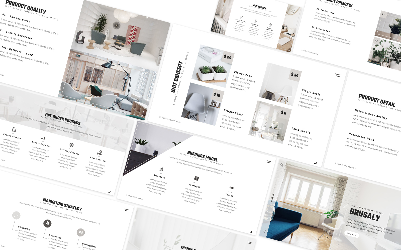 Brusaly Furniture Powerpoint Template