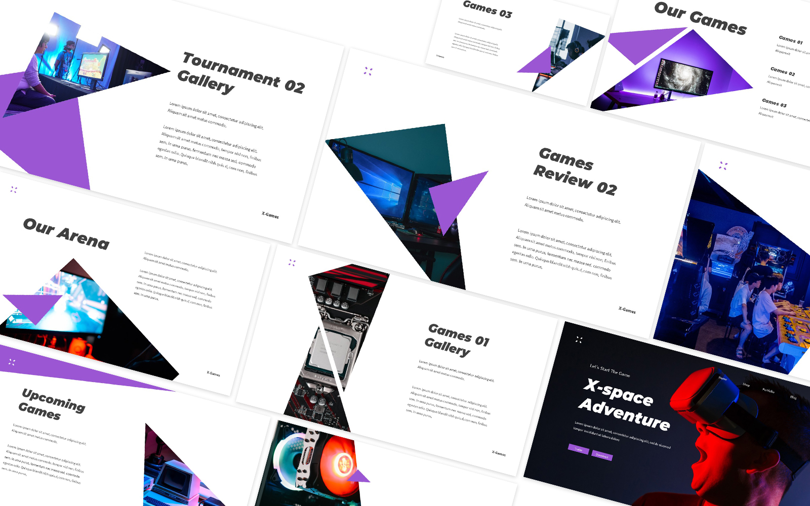 X-Space Gaming Powerpoint Template