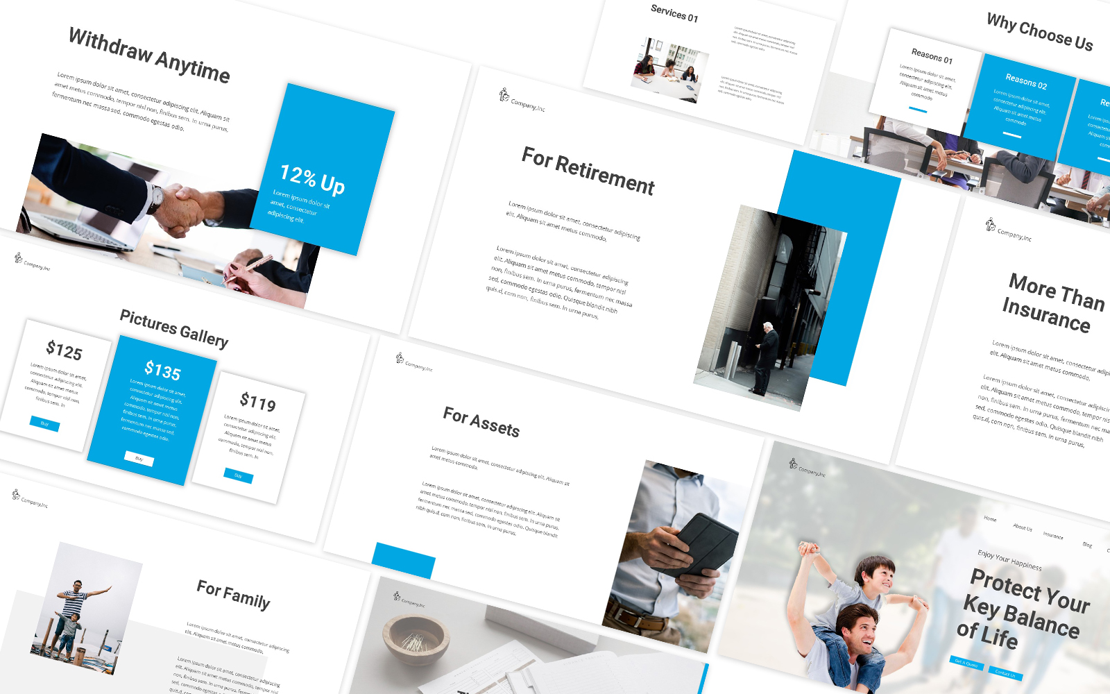 Insurance Life  Powerpoint Template
