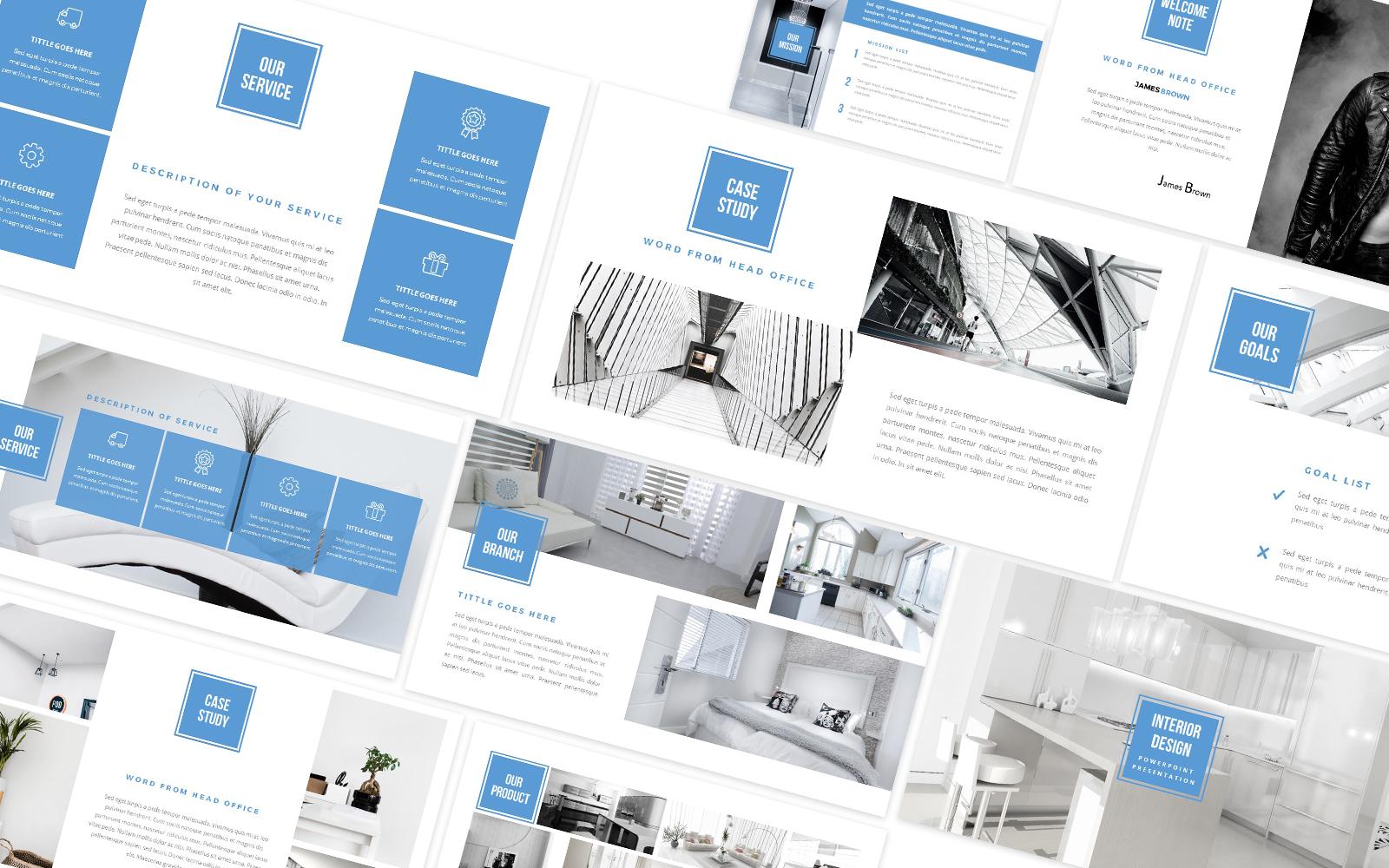 Interior Design & Furniture Powerpoint Template