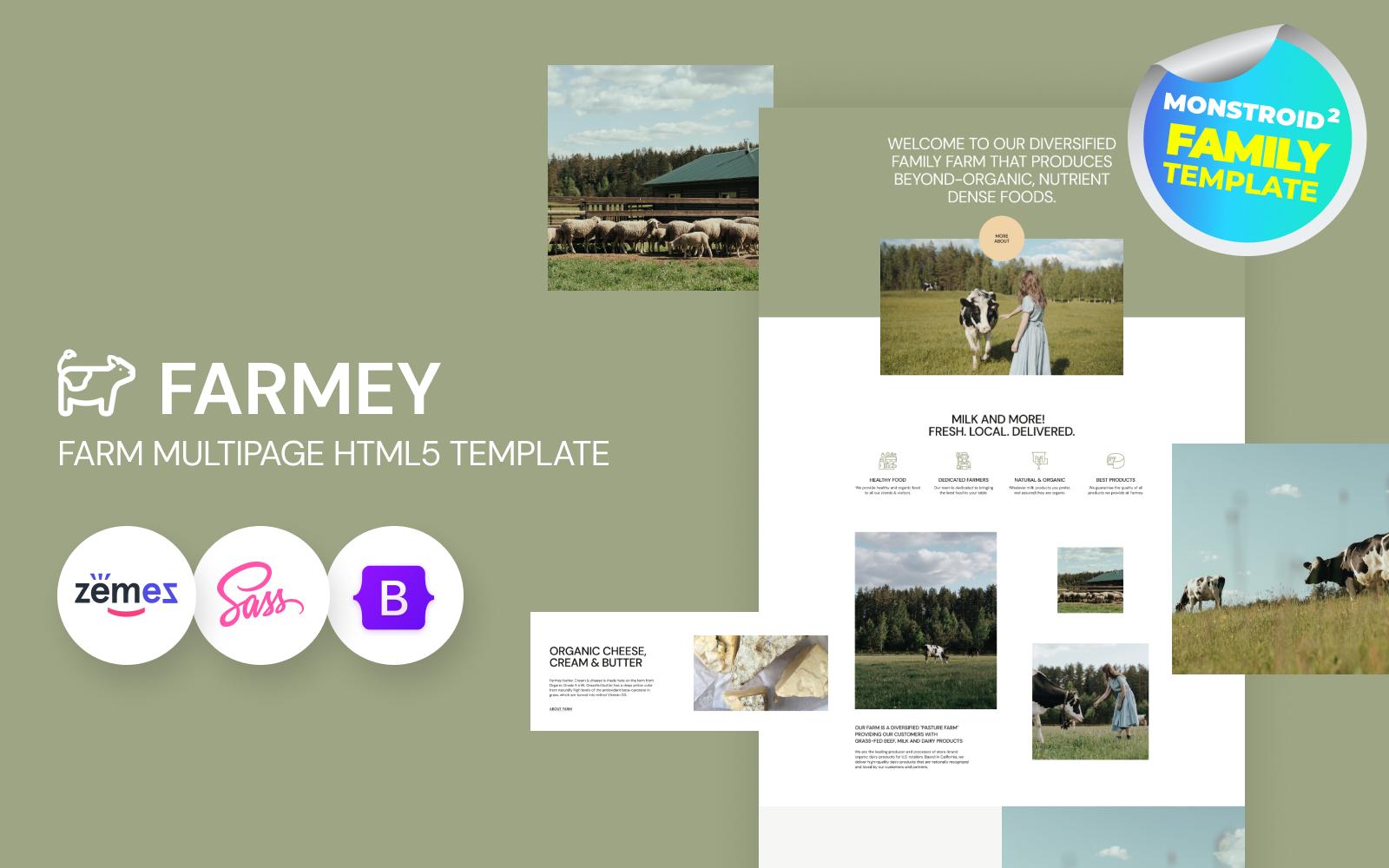 Farmey - Dairy Farm HTML5 Website Template