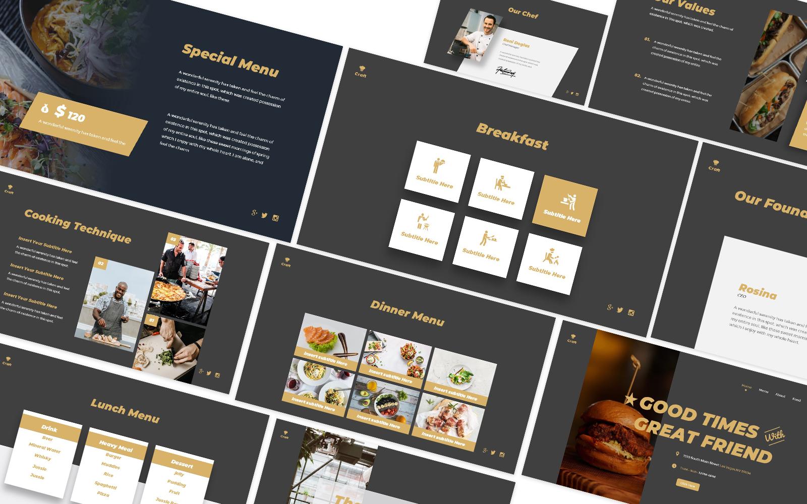 Craft Kitchen Powerpoint Template