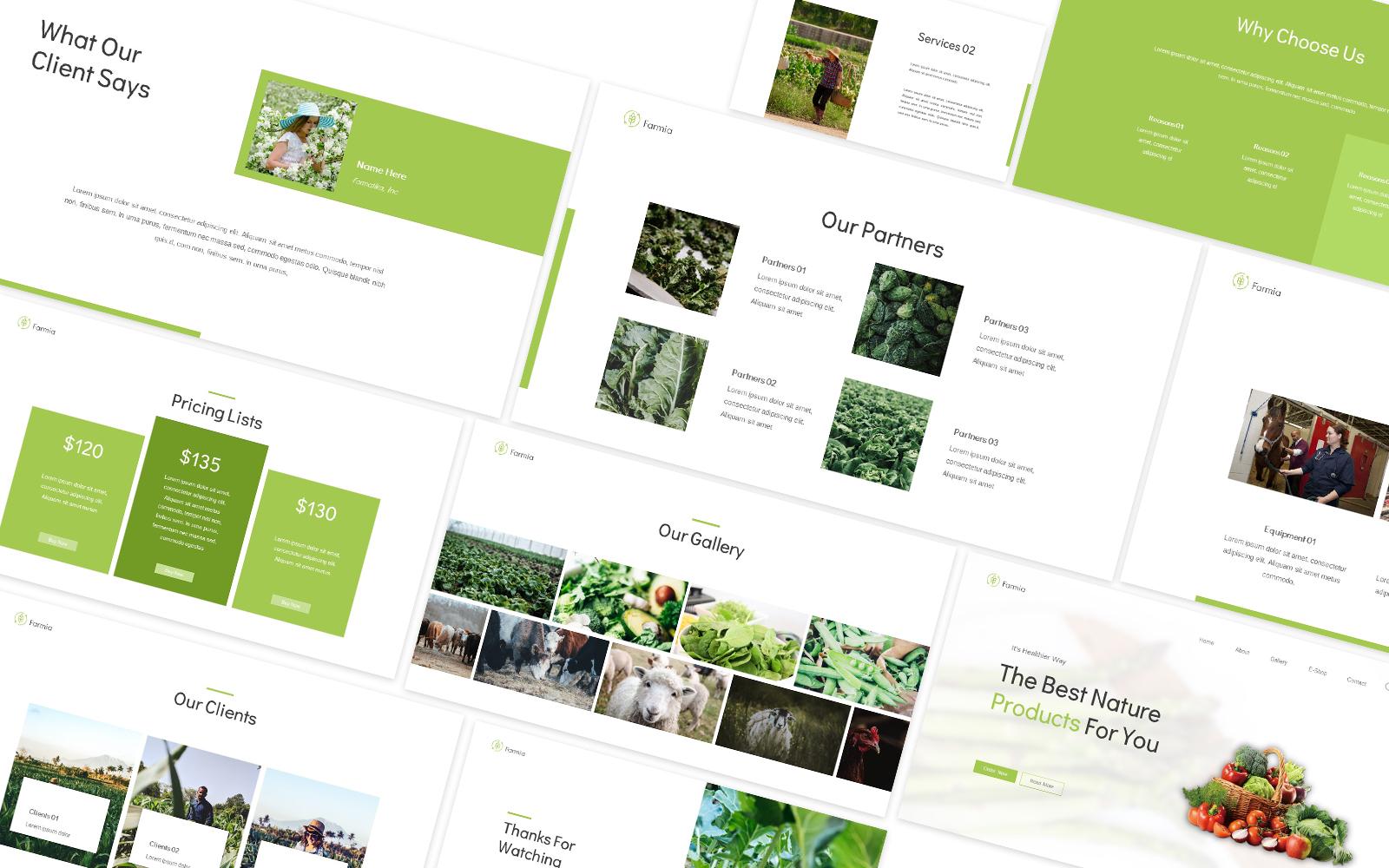 Farmia Farming Powerpoint Template