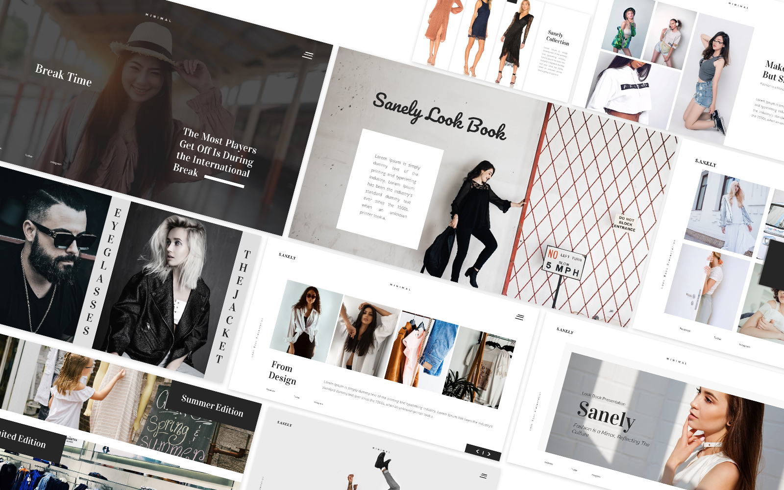 Sanely Fashion Lookbook Powerpoint Template