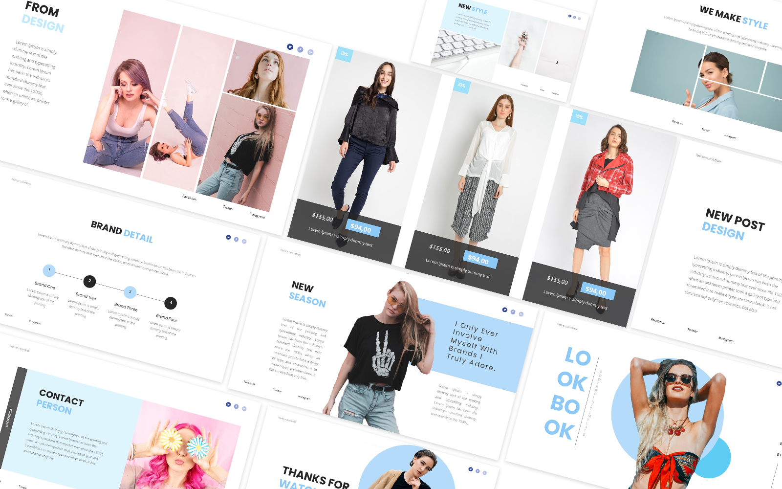 Fashion Lookbook Powerpoint Template