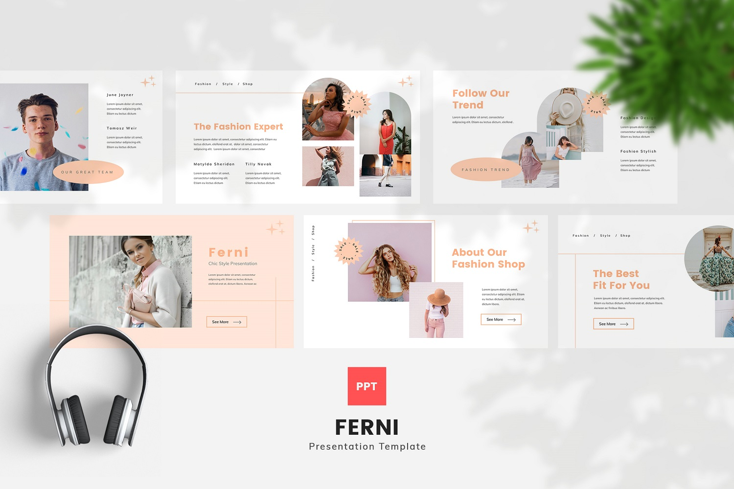 Ferni - Chic Style Powerpoint Template