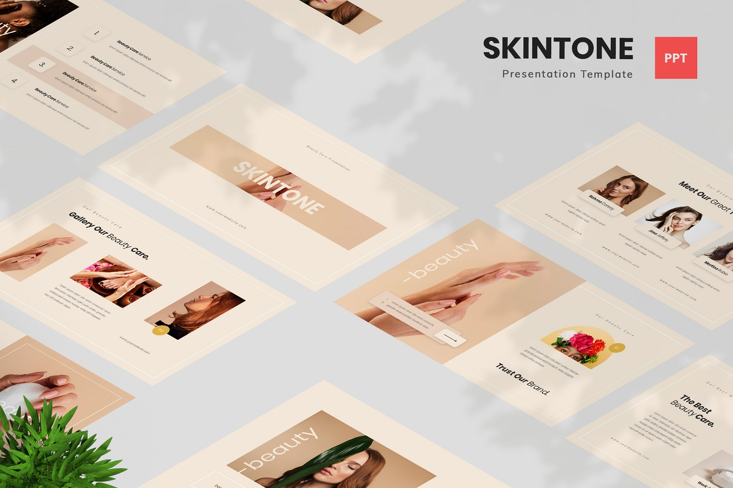 Skintone - Beauty Care Powerpoint Template