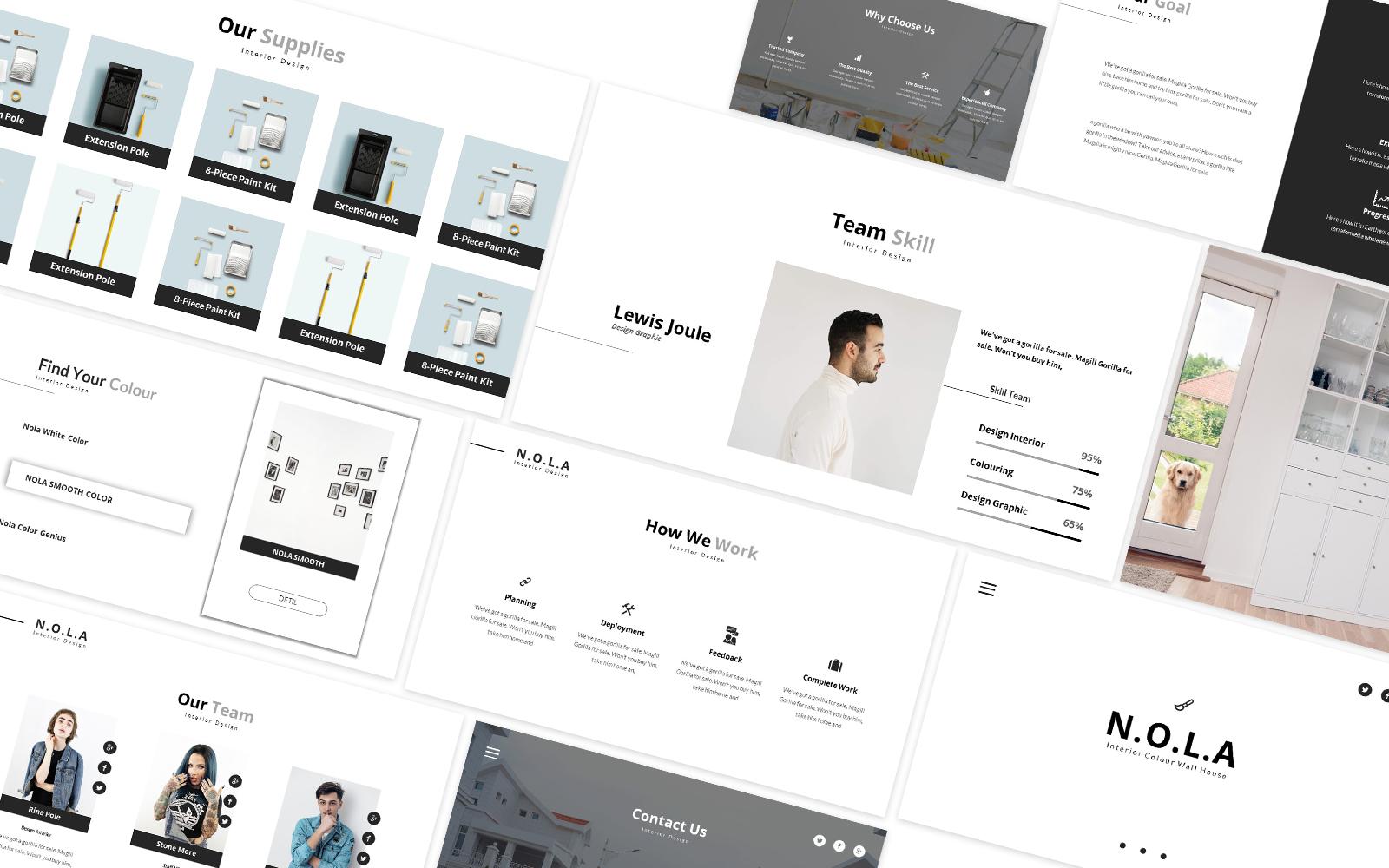 Nola Interior Design Powerpoint Template