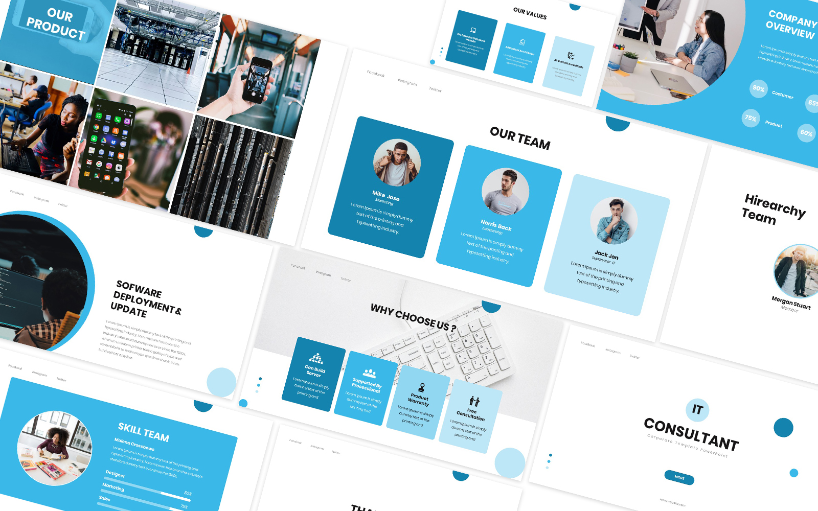 IT Consultan Powerpoint Template