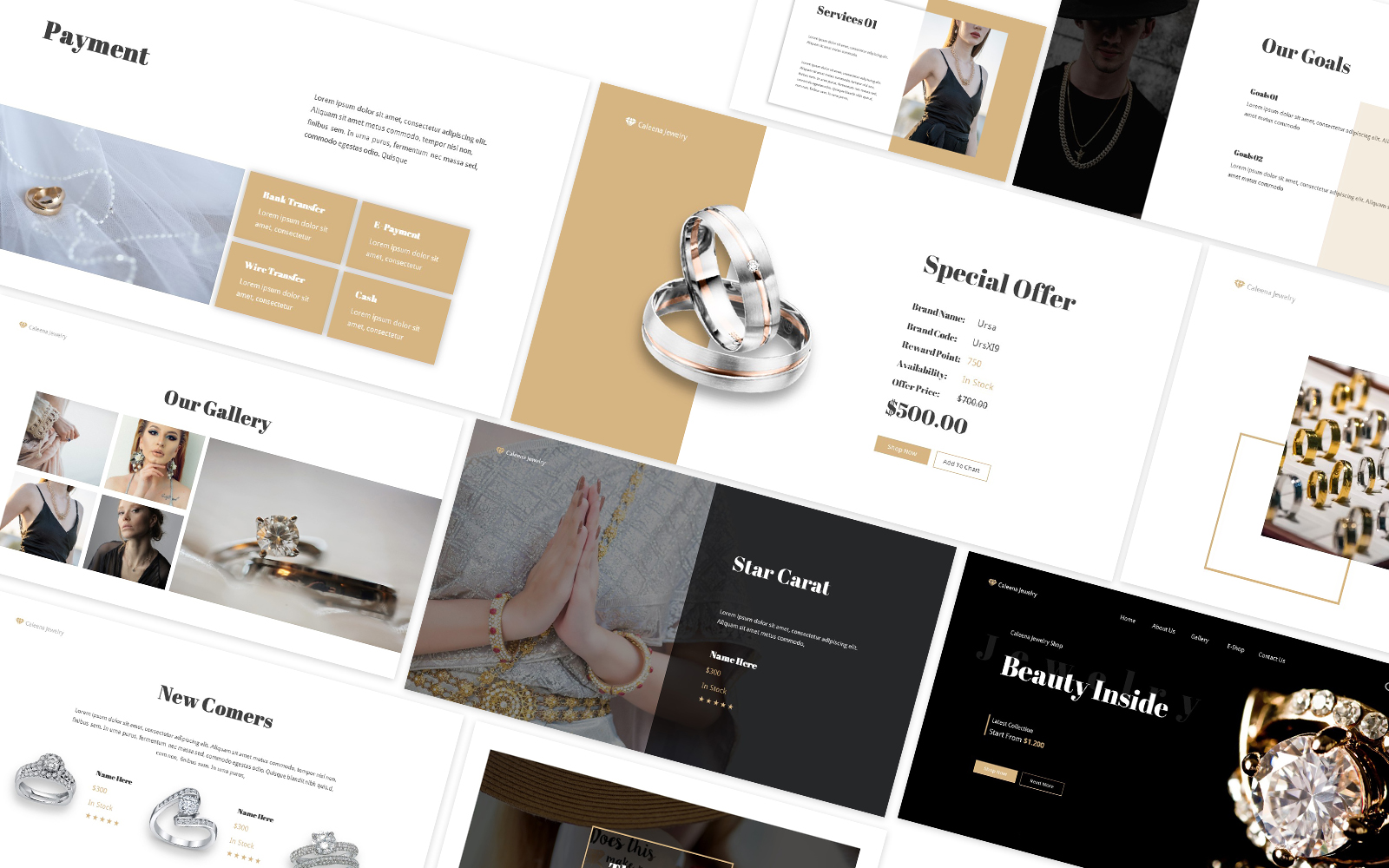 Jewelry Shop Powerpoint Template