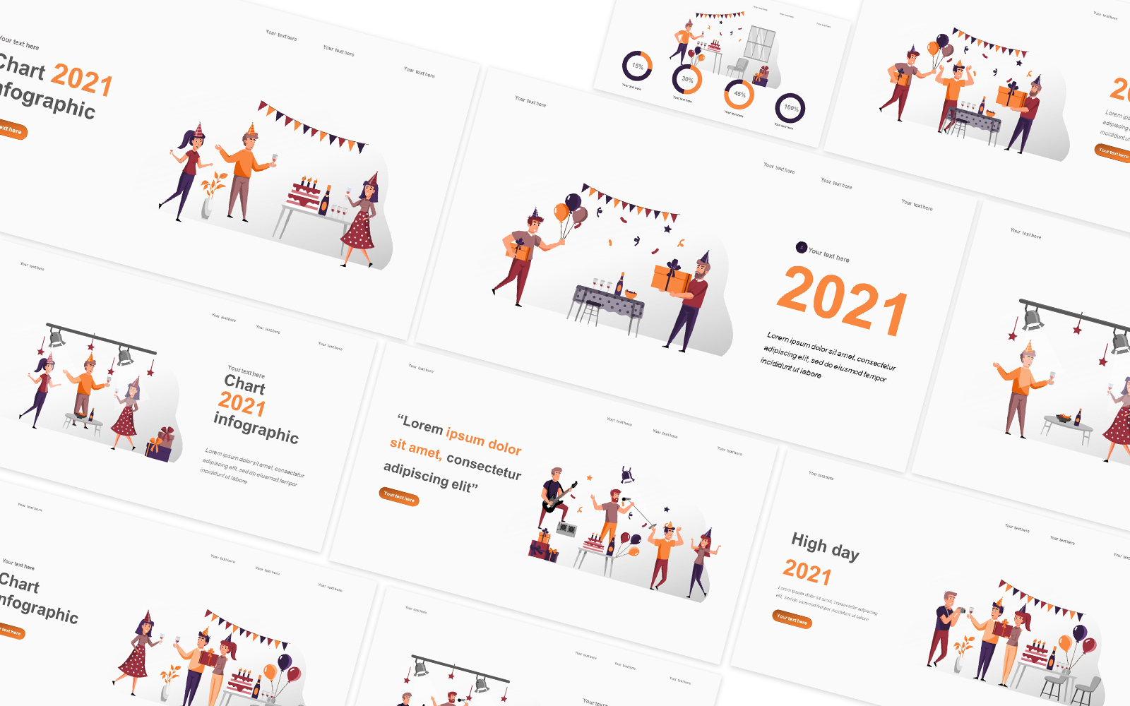 Holiday Illustration Powerpoint Template