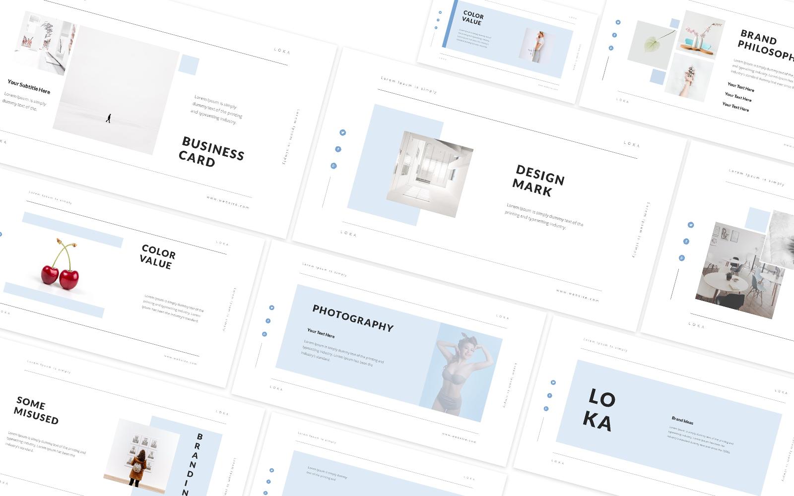 Loka Lookbook Powerpoint Template