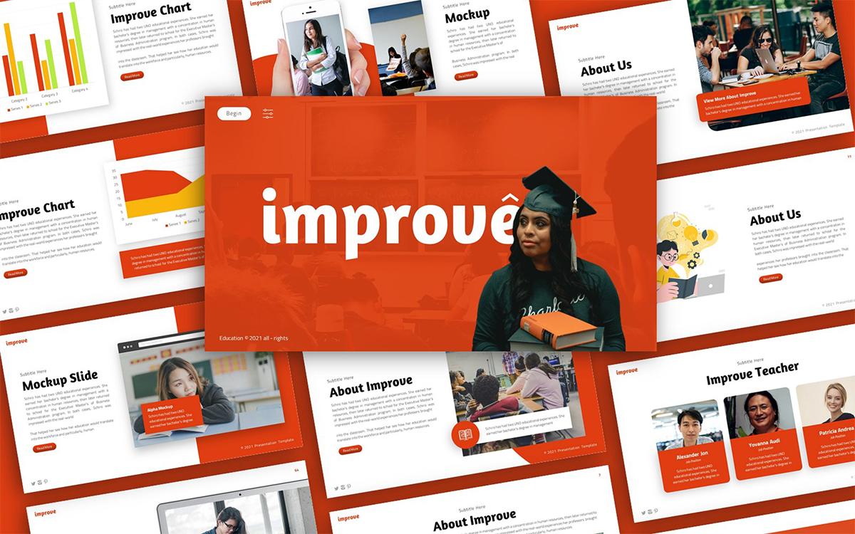 Improve Education Presentation PowerPoint Template