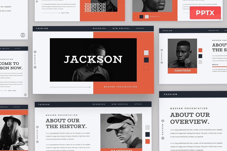 Jackson - Fashion Powerpoint Presentation Template