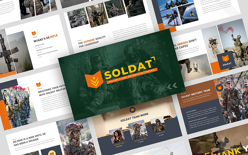 SOLDAT - Military and Army Presentation PowerPoint Template